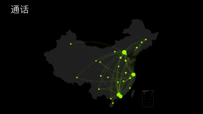 WeChat Usage by City in China